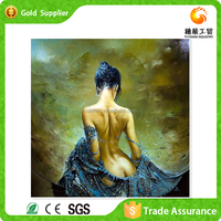 Factory supply wholesale price 2016 new designs sexy young girl diy crystal diamond painting