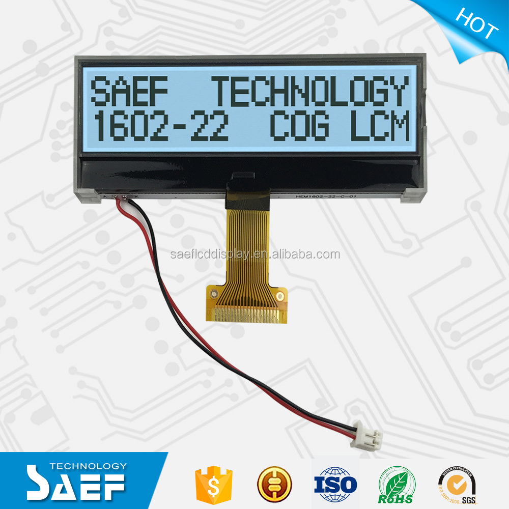 FSTN COG 16X2 Character LCD Display Positive Module