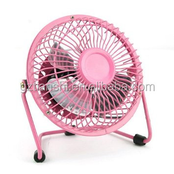 Super mini 4 inch 6 inch usb personal fans metal cover Aluminum fan sleeve USB fan