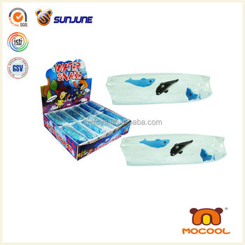Wholesale novelty toys for 2014, new dolphin print water wiggler toy, water snake toy