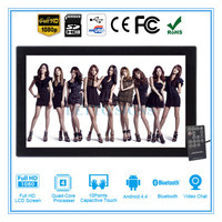 21.5 inch 1080P Digital photo frame, Android Touch Screen WIFI LCD Advertising Display A83T-215 1920*1080