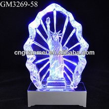 Wholesale led colored glass bricks of Statue of Liberty sculpture