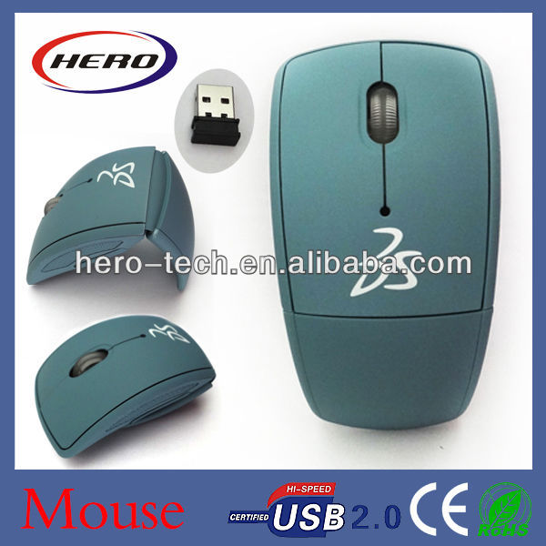 2016 Popular 2.4GHz wireless foldable mouse for promotion