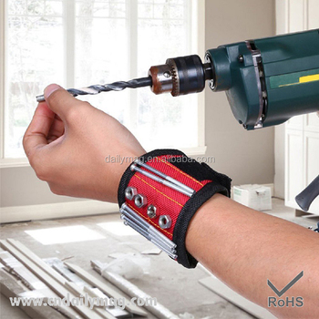 Magnetic Wristband for Holding Tools, Screws, Nails, Bolts, Drilling Bits, Screwdriver Bits. A Must Have Item in Your Tool Bag