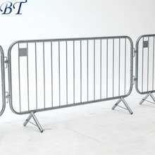 Steel Galvanised Classic Crowd Control Pedestrian Barricades / Event Crowd Barrier