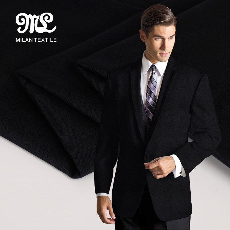 Wholesale New style navy man suit wool polyester twill fabric