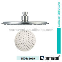 stainless steel LED top shower head LEDTS1019