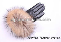 Women wholesale high-grade motorbike fox fur finger gloves
