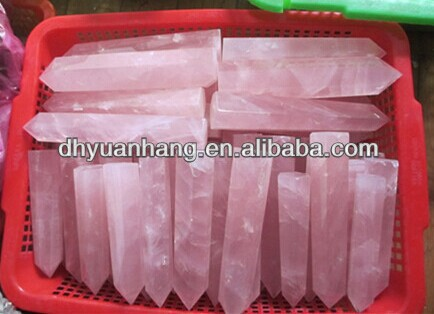 100-150mm natural rose quartz obelisks, single rose quartz points