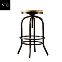 Triumph Solid wood seating Rustic finishing metal iron frame Industrial bar Stools Reclaimed Wood barstool