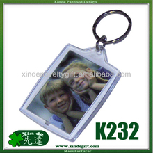 Clear Plastic photo paper insert keychain - Color printed paper insert key holder