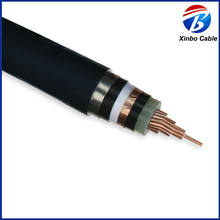 copper 8.7/15KV stainless steel armored PVC sheathed electric 25mm x 4core armoured cable