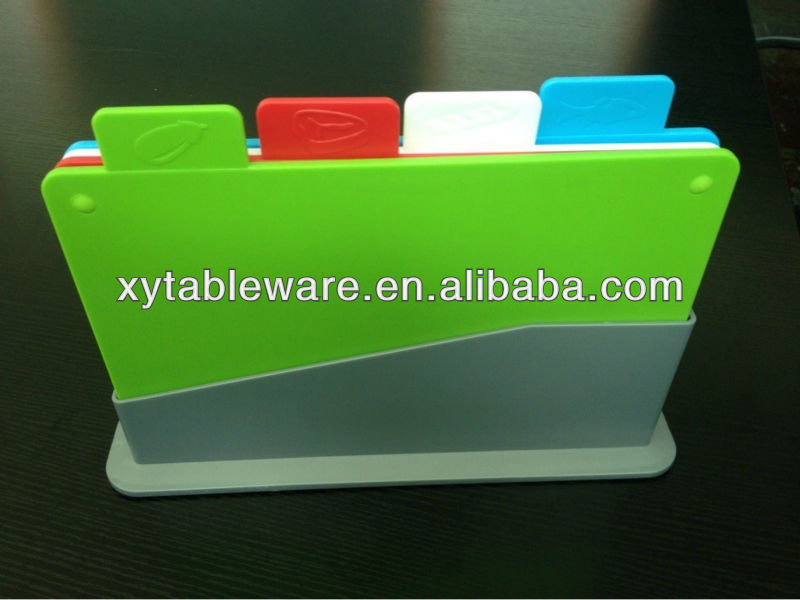 New design plastic cutting board,plastic kitchen ware,creative cookware.