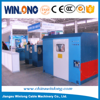 Rotating frame single-twist cabling machine