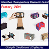 Cheap Factory OEM DIY Google Cardboard Virtual Reality VR 3D Glasses for Smartphone Movie Game Print Color New Year Gift logo