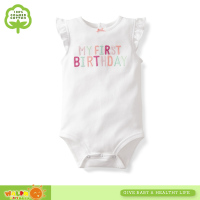 new design babywear 100%cotton baby sleeveless bodysuits