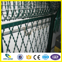 welding razor barbed wire mesh of BTO-30 with 150mmX300mm opening size