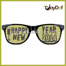 Happy New Year 2014 Sticker Logo Lens Pinhole Sunglasses