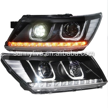 For Dodge Journey JCUV Fiat Freemont LED Head Lamps U Style LED Light High Beam 2009-2014 Year