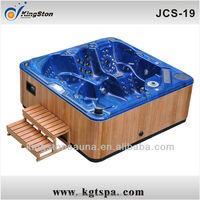 6 person Acrylic Spa Hot tub with wooden skirt Pop-up TV