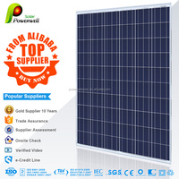 Powerwell Solar 260 watt 30v poly solar panel photovoltaic with CEC/IEC/TUV/ISO/INMETRO/CE certifications
