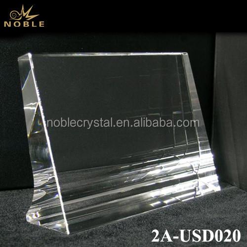 Crystal Frame Beveled Crystal Blank Award Trophy Plaque
