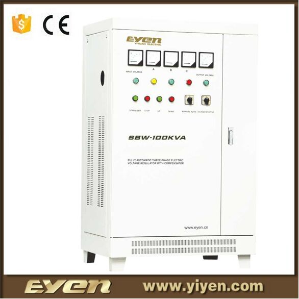 AC three phase high-power vertical servo motor automatic voltage regulator/voltage stabilizer 80KVA