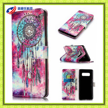New arrival mobile phone cover for samsung galaxy note 8 high quality PU Leather case for galaxy note 8 phone case