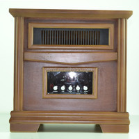 Wooden cabinet halogen quartz tube infrared heater