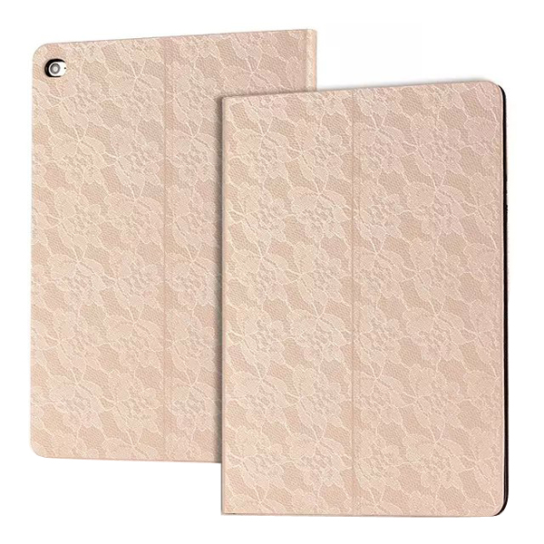 Microfiber PC flip leather case tablet protective case for ipad 6, mobile phone case