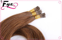 "Coffee Color(6#8#) 18"" - 22"" Virgin Remy 100% Human Hair Brazilian Weave Bundle Hair I Tip Hair Extension"