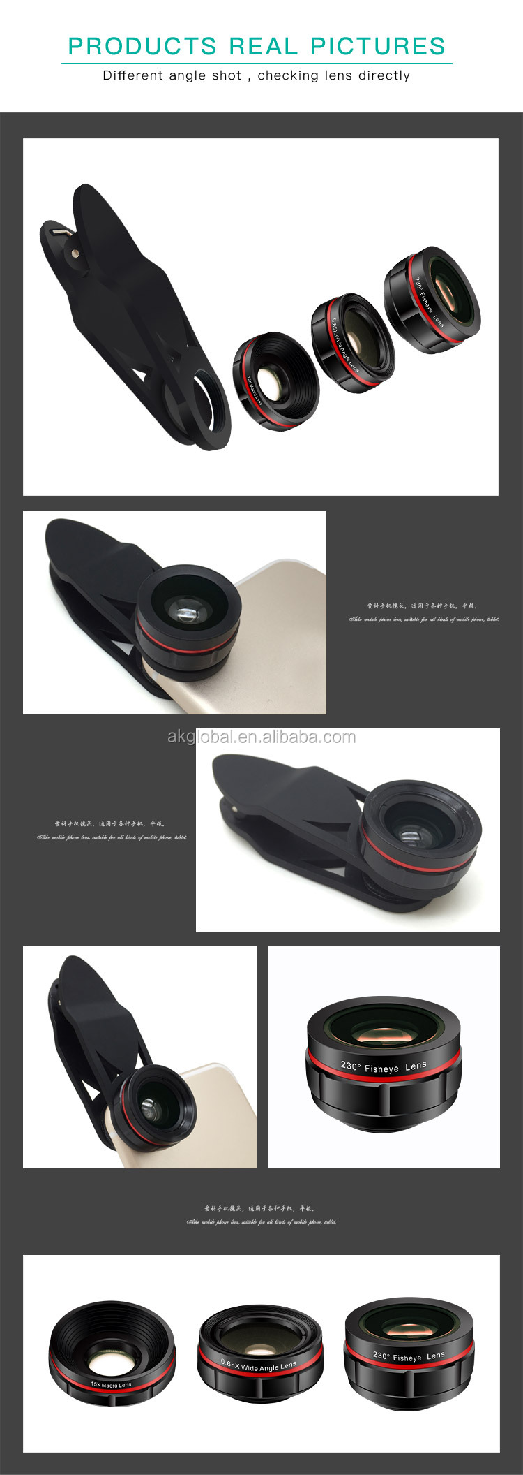 Best selling products in amazon accessories mobile phone 3 in 1 wide angle macro lens for phone camera lens