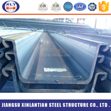 China supplier high strength Q235B hot rolling used u type steel sheet pile for structral pipes