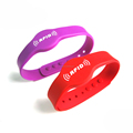 Customized silk print debossed embossed rubber silicone bracelet with logo print engrave ink filled silicone wristband