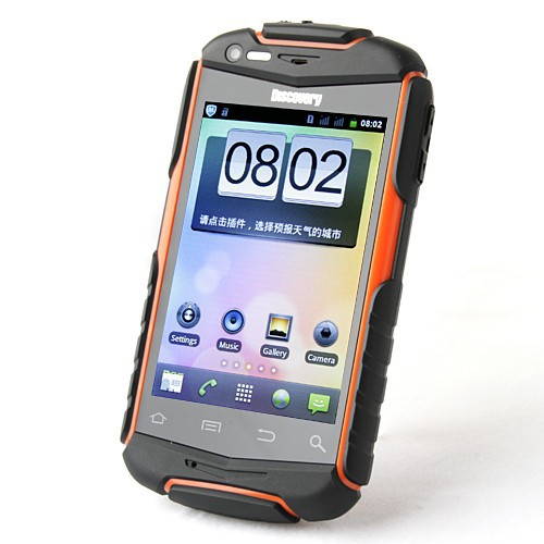 Shoot Proof Dust Proof Mobile Phone MTK 6515 3.5 Inch Dual SIM Discovery V5