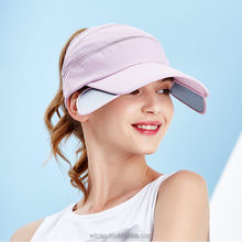 Women's Extendable Brim Visor Baseball Hat SPF50+ UV-Anti Golf Tennies Sun Cap
