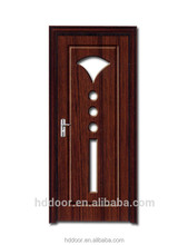 MDF filling interior pvc plastic door with glass interior stained glass doors