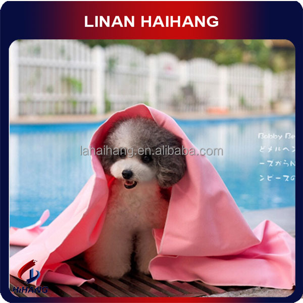 China manufacturer Eco-Friendly Feature and Pet Application microfiber pet towel,square shape pet towel,full color thick towels