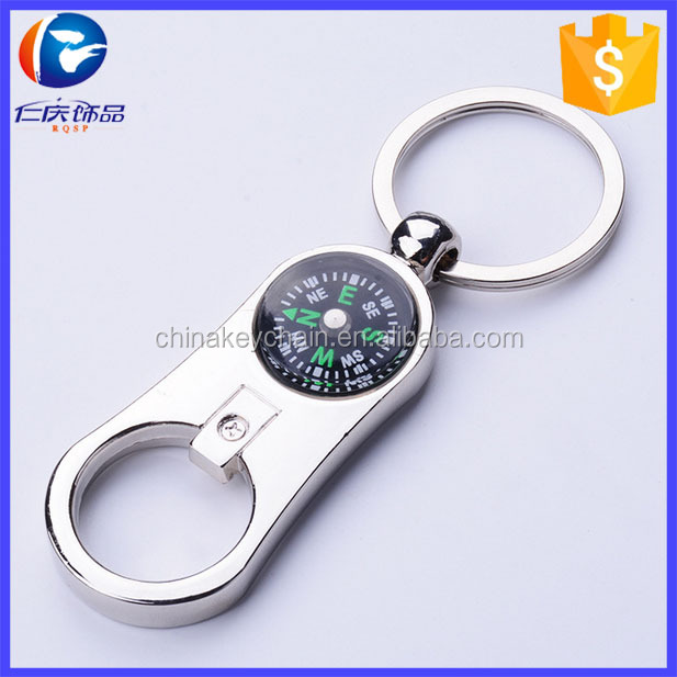 Practical Gift Pendant Advertising Promotional Gifts the Compass Bottle Opener Key Chain