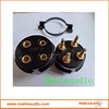 Black bakelite CMC 4Pin vacuum tube socket
