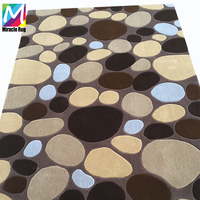 Hot Sell New Zealand Wool and Silk Stone Pattern Hand-made Carpet Living Spaces Rugs