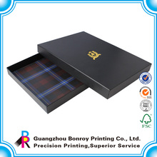 China supplier custom high quality glod hot stamping for fashion grid storage box with lid