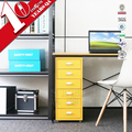 6 Drawer Hemler Metal Home Office Filing Drawer Unit On Castors Cabinet Multi-Colored
