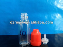10ml PET Eye Dropper Bottles with Childproof caps and thin tip for Liquid Medicine Manufacture