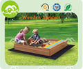 top sale fir wood sandbox kids, 2kids one sandbox
