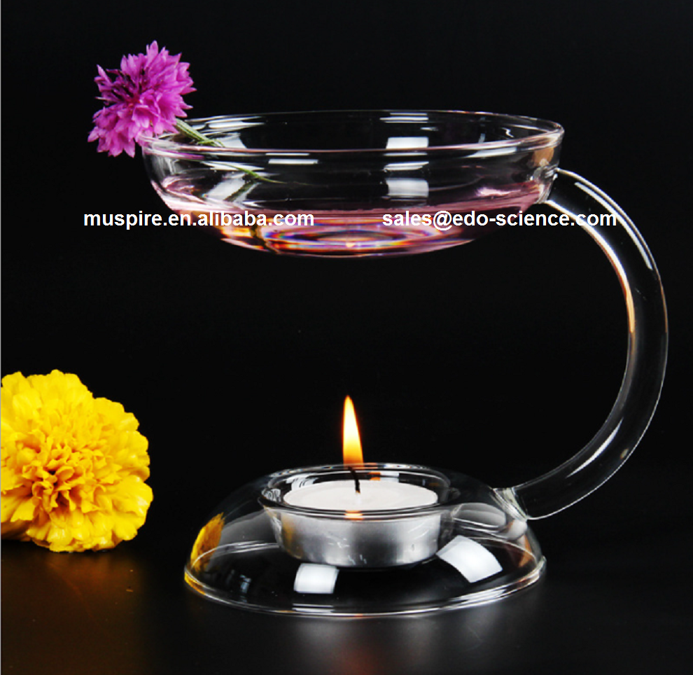 2016 Fastest Sale Candle Holder with Solid Glass Base Glass Dome