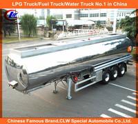 Bottom loading Aluminum Alloy Fuel Tank Trailer Shiny Finish 5454 SASO Certificate Aluminum Fuel Semi Trailer