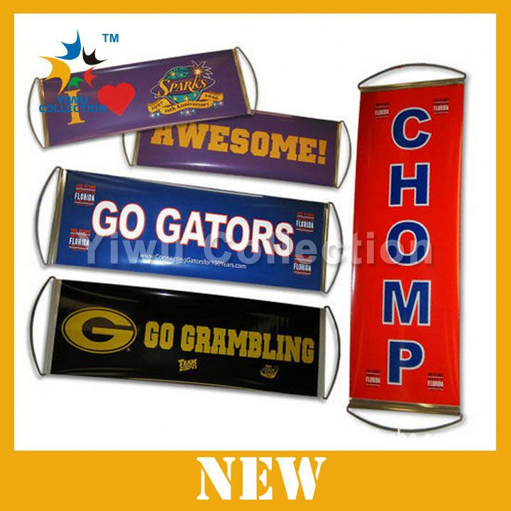 cheering fan rolling banner,custom printed flags banners,embroider banner