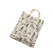 full color custom handled cheap eco friendly printed canvas fabric cotton shopper tote bag