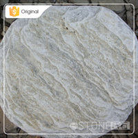 Factory Supplier Cheap Yellow Round Shape Slate Stepping Paving Stone